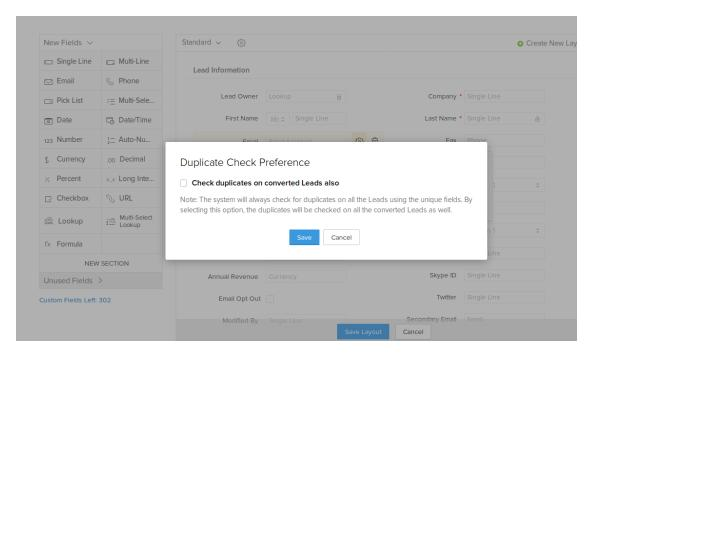 How to avoid duplicate records in Zoho CRM ? - Target Integration